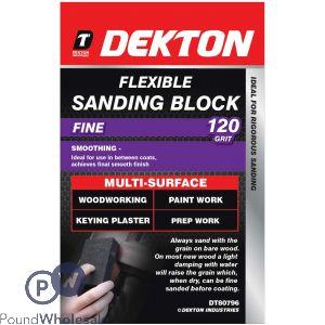 DEKTON FLEXIBLE SANDING BLOCK 120 GRIT
