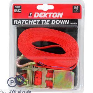 "DEKTON RATCHET TIE DOWN 1"" x 4.5M"
