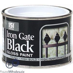 151 IRON GATE BLACK GLOSS PAINT 180ML