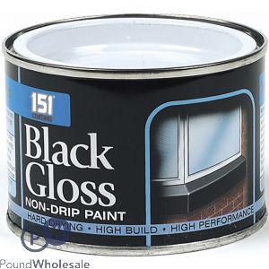 151 BLACK GLOSS NON-DRIP PAINT 180ML
