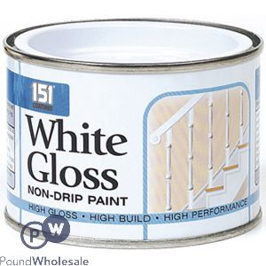 151 WHITE GLOSS NON-DRIP PAINT 180ML