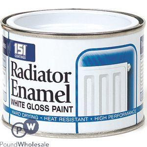 151 RADIATOR ENAMEL WHITE GLOSS PAINT 180ML