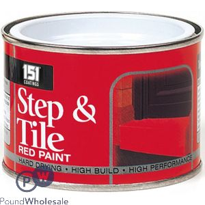 151 STEP & TILE RED PAINT 180ML