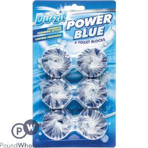 DUZZIT POWER BLUE TOILET BLOCKS 6 PACK