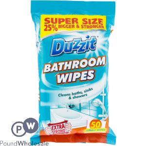 DUZZIT BATHROOM CLEANING WIPES 50 PACK