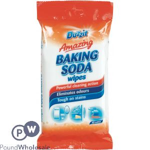 DUZZIT AMAZING BAKING SODA WIPES 40 PACK