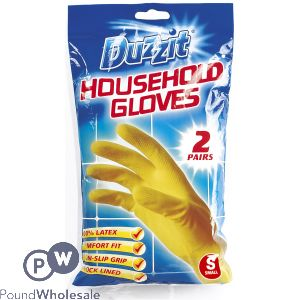DUZZIT HOUSEHOLD GLOVES SMALL 2 PACK