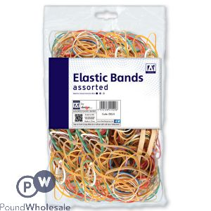 ASSORTED ELASTIC BANDS 60G