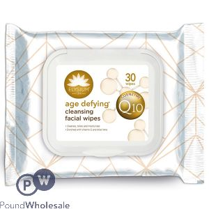 ELYSIUM AGE DEFYING CLEANSING FACIAL WIPES 30 PACK