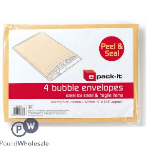 E PACK-IT 4 BUBBLE ENVELOPES