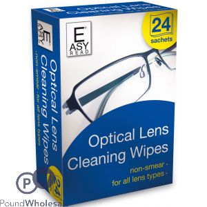 OPTICAL LENS CLEANING WIPES 24PK