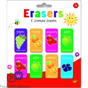 KIDS CREATE 8 SCENTED ERASERS