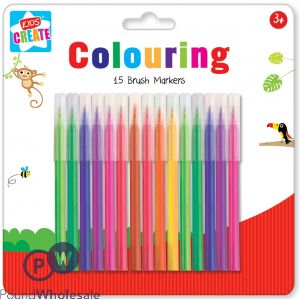 KIDS CREATE COLOURING MARKERS 15 PACK IN ASSORTED COLOURS