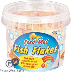 FEED ME FISH FLAKES 50G