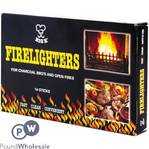 BIG K FIRELIGHTERS 14 STICKS