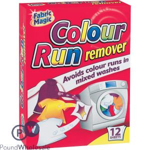 FABRIC MAGIC COLOUR RUN REMOVER 12 PACK
