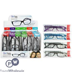 READING GLASSES ASSORTED STRENGTHS CDU