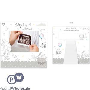 HUGS & KISSES BABY SCAN ANNOUNCEMENT CARD