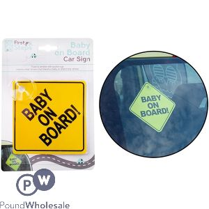 FIRST SAFETY BABY ON BOARD SIGN 2 ASSORTED