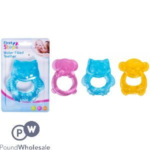 FIRST STEPS WATER FILLED ANIMAL BABY TEETHER 3 ASSORTED