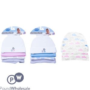 PREMIA BABY HATS 4PC 2 ASSORTED VAT FREE