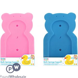FIRST STEPS BATH SPONGE SUPPORTS 2 ASSORTED