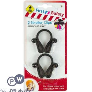 FIRST SAFETY STROLLER CLIPS 2 PACK