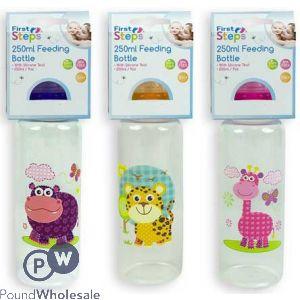 FIRST STEPS SAFARI BABY FEEDING BOTTLE 250ML