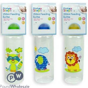 FIRST STEPS JUNGLE BABY FEEDING BOTTLE 250ML