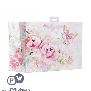 GIFTMAKER FLORAL WATERCOLOUR GIFT BAG LARGE