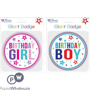 GIANT BIRTHDAY BADGE