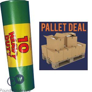 RM EXTRA HEAVY DUTY 180G 10PK GREEN GARDEN SACKS (115L) 30 ROLLS IN A BOX PALLET DEAL