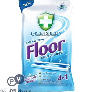 GREENSHIELD ANTI-BACTERIAL 4-IN-1 FLOOR WIPES 24 SHEETS