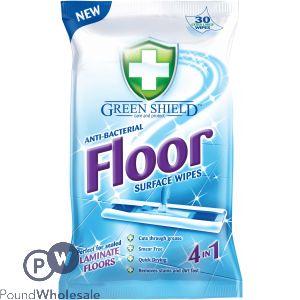 GREENSHIELD ANTI-BACTERIAL 4-IN-1 FLOOR WIPES 24 SHEETS