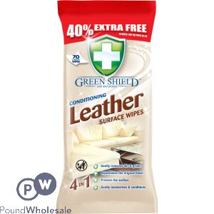 GREENSHIELD LEATHER WIPES 70 SHEETS