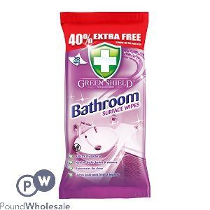 GREENSHIELD BATHROOM SURFACE WIPES 70 SHEETS