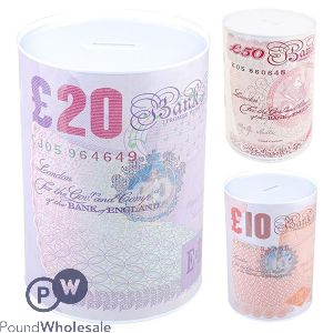 GBP BANKNOTE LARGE MONEY TIN £10, £20 & £50 CDU