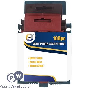 DID WALL PLUGS ASSORTMENT 100PC