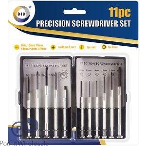 DID PRECISION SCREWDRIVER SET 11PC