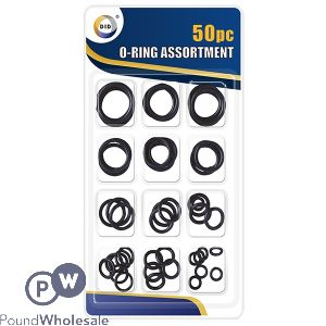 DID RUBBER O RINGS ASSORTED 50PC