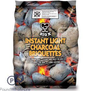 BIG K INSTANT LIGHT CHARCOAL BRIQUETTES 1.5KG