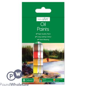 OIL PAINTS 8 X 6ML TUBES