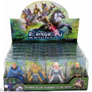 ELVEN KNIGHT FIGURES IN DISPLAY BOX
