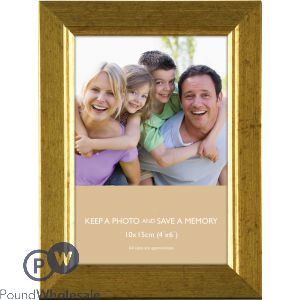 "PHOTO FRAME GOLD 4""X6"" (10X15CM)"