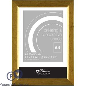 PHOTO FRAME GOLD A4 (21X29.7CM)