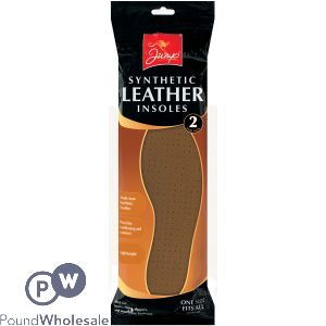 SYNTHETIC LEATHER INSOLES 2PK