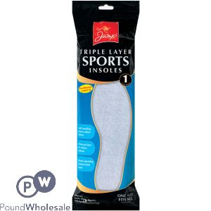 JUMP TRIPLE LAYER SPORTS SHOE INSOLES 1PK