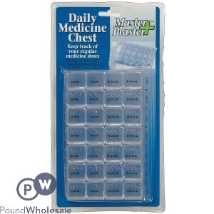 WEEKLY 28 COMPARTMENT MEDICINE CHEST