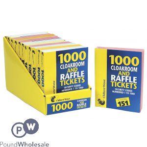 CHILTERN WOVE 1000 RAFFLE & CLOAKROOM TICKETS CDU