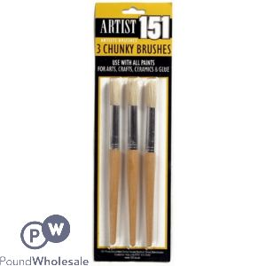 151 CHUNKY ARTIST PAINT BRUSHES 3 PACK